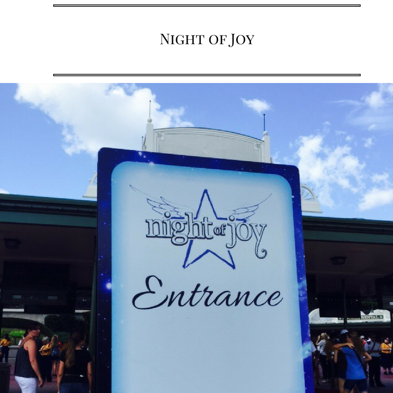 Awesome advice about Disney World's Night of Joy!