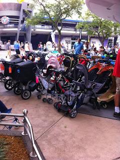 Stroller Parking at Disneyland and Walt Disney World