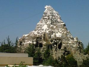 The Matterhorn view from Tomorrow Land.