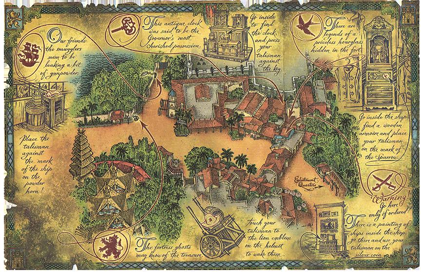 Adventureland Disney World Map.A Pirate S Adventure Treasures Of The Seven Seas At The Magic