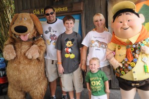Meet and Greet with Dug and Russell at Discovery Island