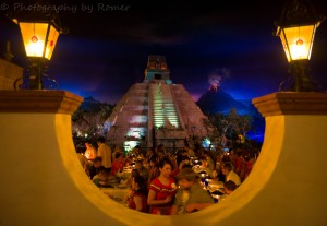 Have a romantic meal at the San Angels Inn at the Mexico Pavilion in Epcot.