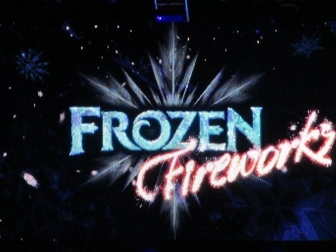 Frozen Fireworks at Hollywood Studios in Walt Disney World