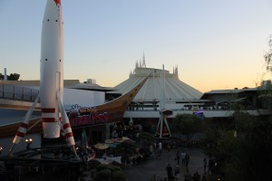 Disneyland's Space Mountian and Pizza Port