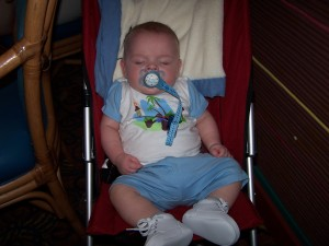 Disney Cruise Line-James asleep at dinner