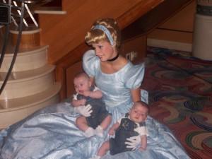 Disney Cruise Line-Twins with Cinderella