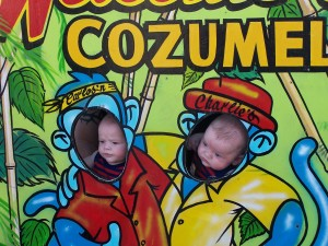 Disney Cruise Line-Twins in Cozumel