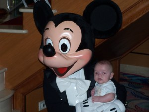 Disney Cruise Line-James with Mickey