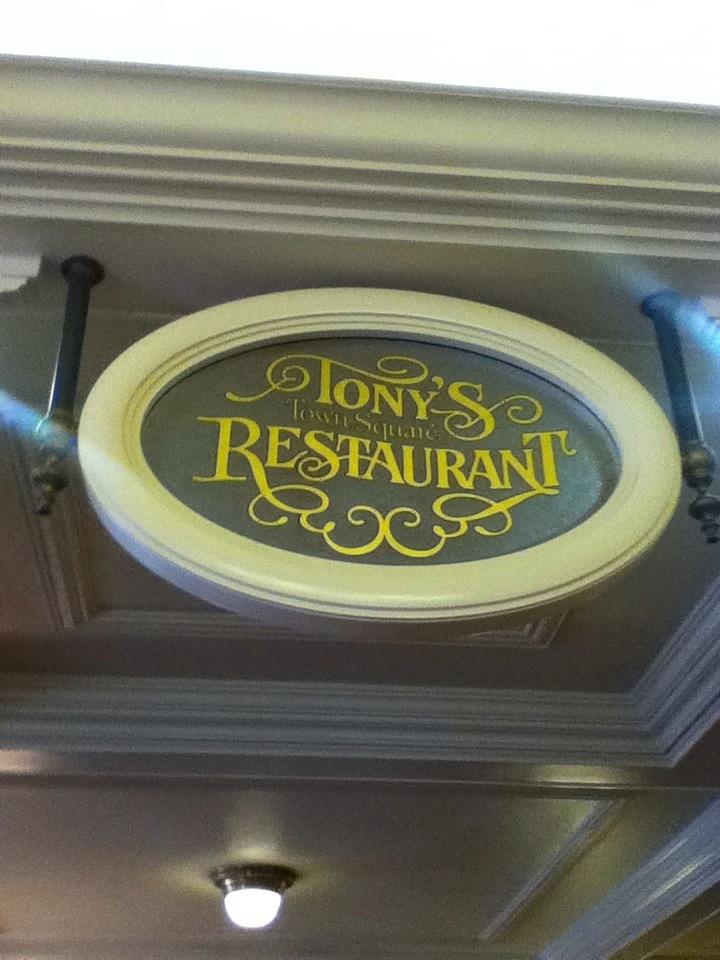 Tony's Town Square Restaurant at Walt Disney World's Magic Kingdom