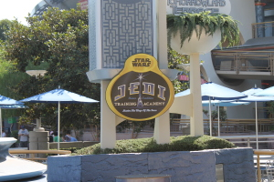 The Jedi Training Academy can be found at the Tomorrowland Terrace Stage.