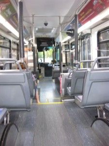 Inside of the Toy Story Bus