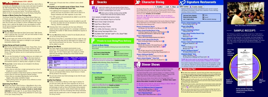 Disney Dining Plan Table Service Images Plans For Dinner