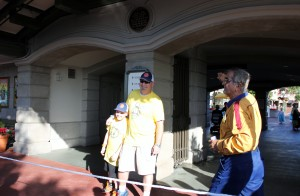 Early start waiting for rope drop & the CM had the crowd singing Happy Birthday to my husband & son.