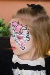 2012 Dec face paint unicorn