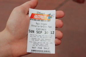 Paper Fast Pass at Walt Disney World