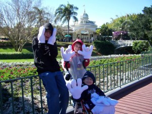 Boys being silly at WDW