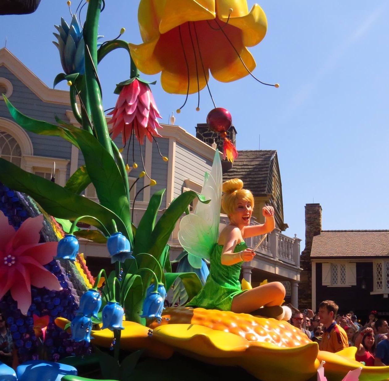 Seeing Tinkerbell at Disney World
