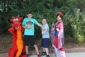 Soarin' Divas young Devo's ready for battle with Mulan and Mushu at Characterpalooza