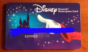 Disney Rewards Redemption Card- Reloadable Gift Card