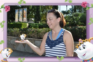 Soarin' Diva with a magic shot holding Chip. I used a Chip & Mrs. Potts border on this as well.