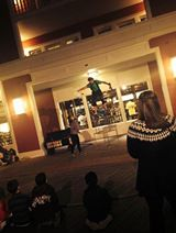 Disney's Boardwalk Street Performer, photo courtesy of Nikki Alexander