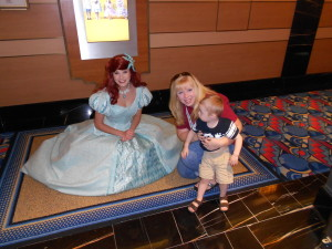 Bumped into Ariel in the hallway! She was so sweet to stop and take a picture with us.