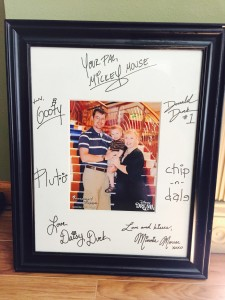 Our favorite autographed item from the cruise.