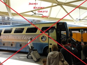 Magical Express, not an option for off-site guests.