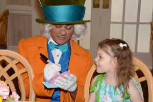 The Mad Hatter signing Fancy Free Daughter's picture frame