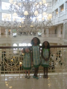 Fancy Free Daughter and Nieces at the Grand Floridian before the tea party gets underway.