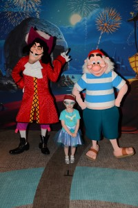 Fancy Free Daughter with Captain Hook and Mr. Smee