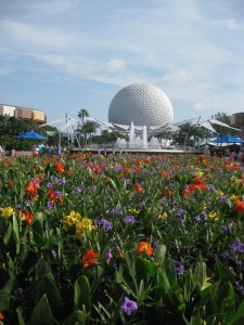 Epcot really is beautiful all year round. This photo was taken in July!
