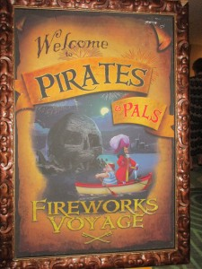 Pirates and Pals welcome sign