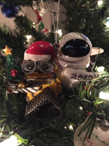 Our 2012 Wall-e and Eve ornament