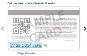 Disney World ticket number