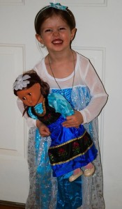 my little Elsa and her Anna
