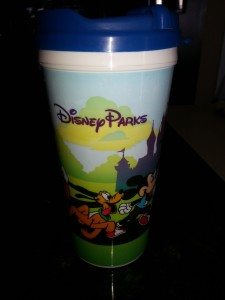 Hot cocoa and a souvenir mug from Magic Kingdom.