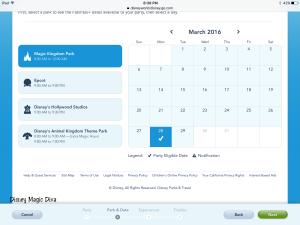 fastpass calendar