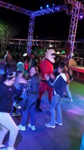 Dancing with Mr. Incredible.