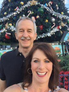 WDW Christmas Tree Selfie