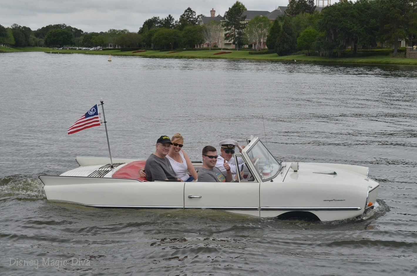 Make a Splash in an Amphicar at Disney Springs