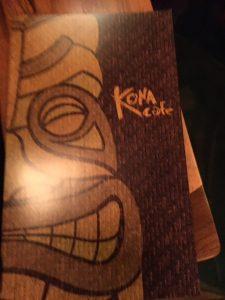Kona Cafe Menu Cover