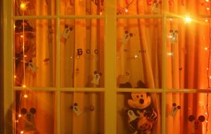 Our Mickey's Not So Scary Halloween Party window at Port Orleans French Quarter