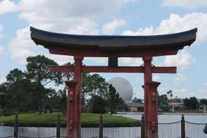 The torii gate in Epcot's Japan pailion
