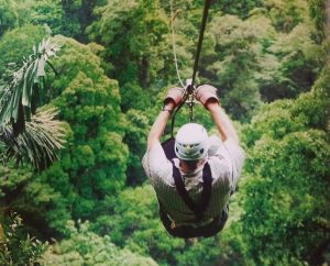 Zip line through the rainforest!