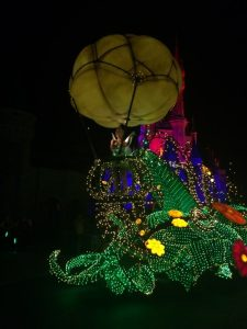 Tinker Bell leads Disney's Main Street Electrical Parade in The Magic Kingdom