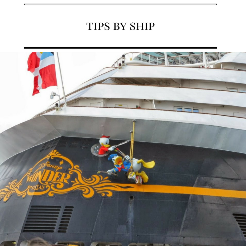 Disney Cruise Line Tips by Ship