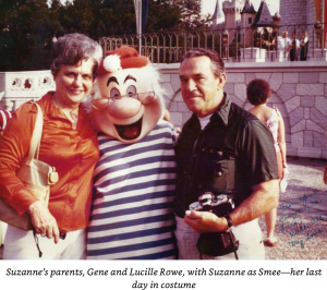 Suzanne as Mr. Smee posing with her parents