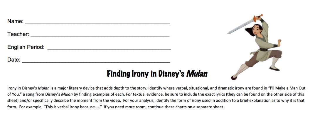 Disney in the Classroom: Teaching Irony