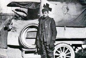 Photo of Walt Disney during World War I, courtesy of Disney2Disney.com